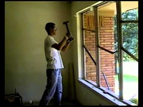 How To Remove Aluminum Windows And What A Mess You