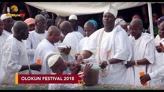 OONI OF IFE CALLS DOWN RAIN AT WORLD OLOKUN FESTIVAL 2018 IN I…