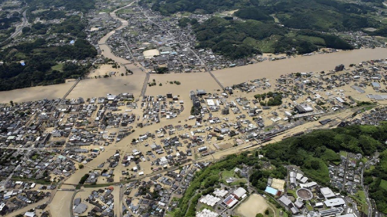 Major Floods Hit Kumamoto & Kagoshima Prefectures, Kyushu, Japan - Jul. 3 / Jul. 4, 2020