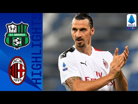 Sassuolo 1-2 Milan | Zlatan Scores A Brace to Hand Milan a 2-1 Win Against Sassuolo | Serie A TIM