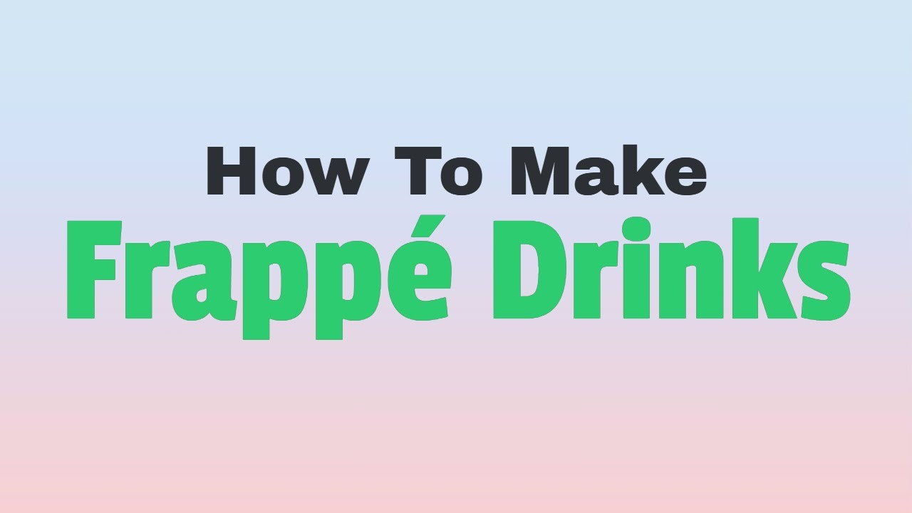 Roblox How To Make All Frappe Drinks Youtube