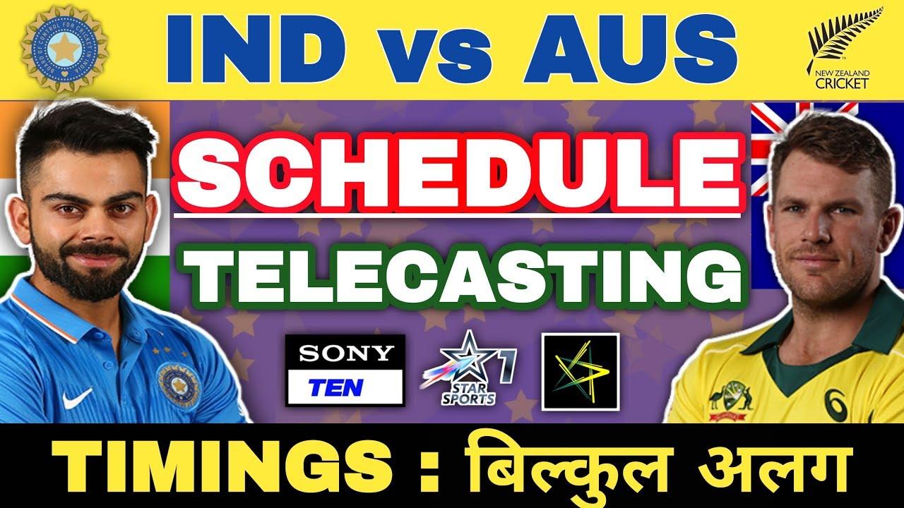 India vs Australia 2019: Schedule, Match Timings, Live Telecasting Details