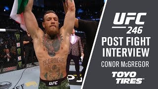 "UFC 246: Conor McGregor - ""I was ready to utilize all my weapons"""