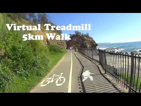 Virtual Treadmill Walk 5km / 3.1mi @ 5.9kph / 3.6mph - Wollongong, NSW Australia