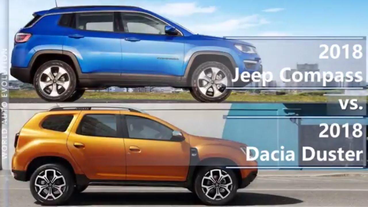 Jeep Compass 2018 >> 2018 Jeep Compass vs 2018 Dacia Duster (technical comparison) - YouTube