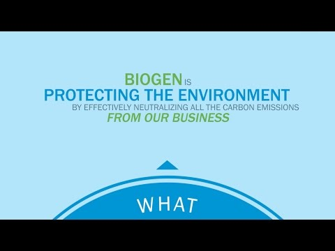 Biogen's commitment to carbon neutrality, sustainability and citizenship
