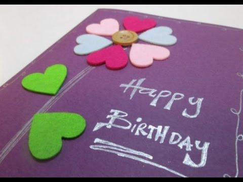 diy 56 birthday gift card youtube - Happy Birthday Gift Card