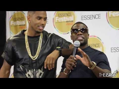 Trey Songz Brings Out Kevin Hart & James Harden Backstage at Essence Festival 2013