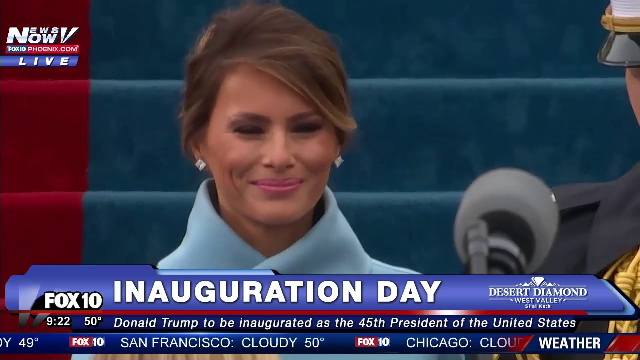 United States First Lady Melanya Trump after inauguration