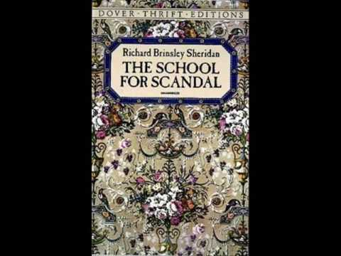 essays on sheridans school for scandal Sheridan's comedies : the rivals and the school for scandal: richard brinsley sheridan: 9781117029818: books - amazonca.