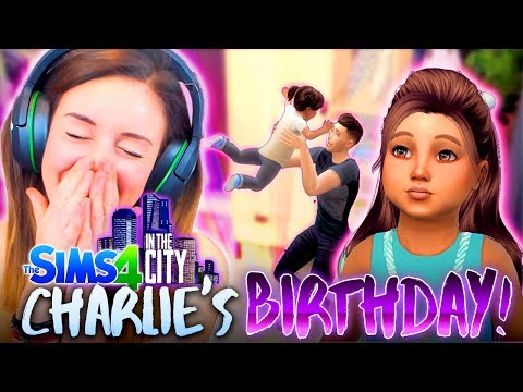 Thumbnail: 👶CHARLIE'S BIRTHDAY PARTY!🌹 (The Sims 4 IN THE CITY #9! 💒)