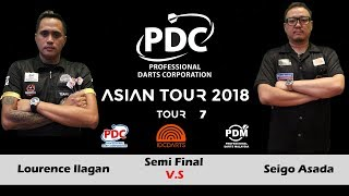 2018 PDC Asian Tour 7 Semi Final One: Seigo Asada vs Lourence Ilagan.