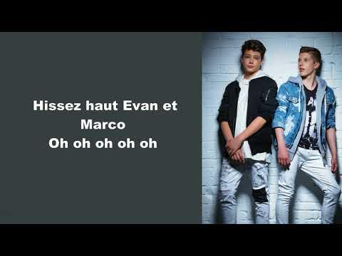 Evan & Marco ~ Les Pirates ~ Lyrics