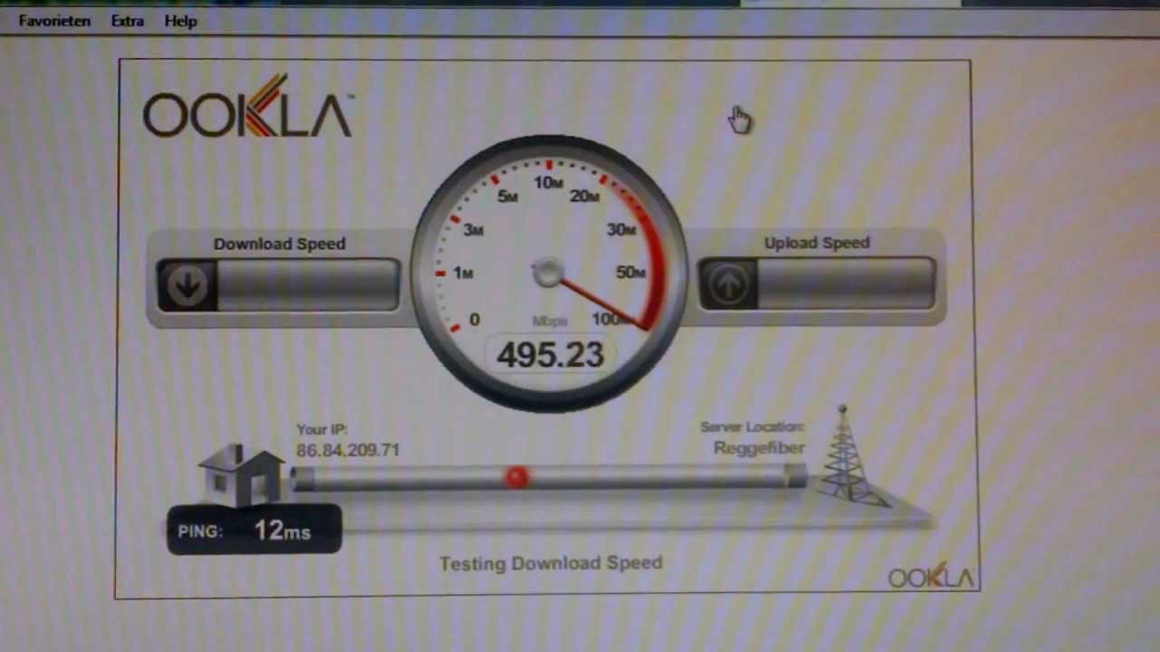 KPN Glasvezel 500Mbit/s test Ijburg - YouTube