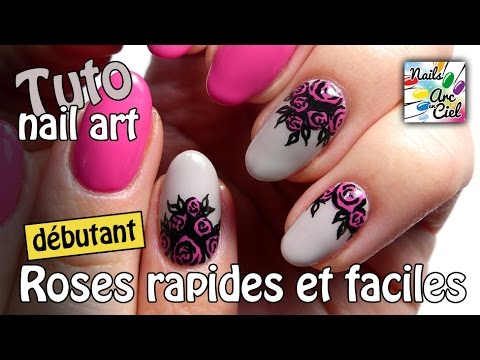 nail art bouquet de roses super facile et rapide pour d butants youtube. Black Bedroom Furniture Sets. Home Design Ideas