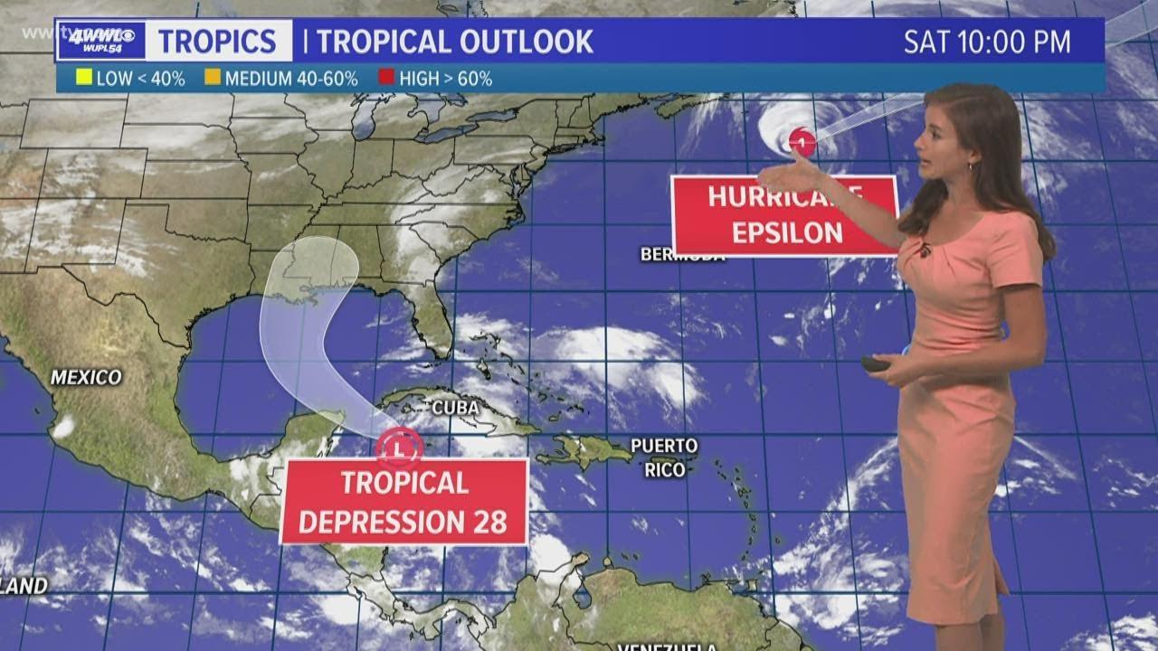 Nice Sunday weather, tracking Tropical Depression 28