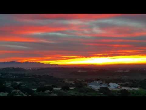 Sunrise over San Fernando Valley