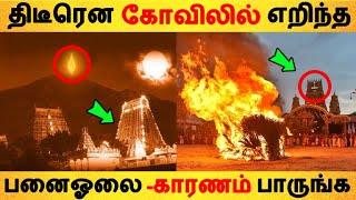 திடீரென கோவிலில் எறிந்த பனைஓலை -காரணம் பாருங்க!