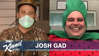Josh Gad & Jimmy Kimmel Surprise Each Other with Unflattering Outfits YouTube Videos