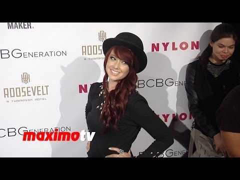 Starling Glow Liz Anne Hill NYLON & BCBGeneration Young Hollywood Party Red Carpet
