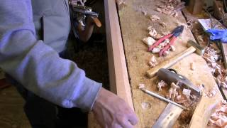 Final Hand Planing  Of A Facet On A Pencil Post Bed