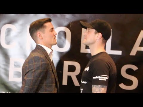 NO BEEF HERE! - ANTHONY CROLLA v RICKY BURNS - HEAD TO HEAD @ PRESS CONFERENCE / CROLLA v BURNS