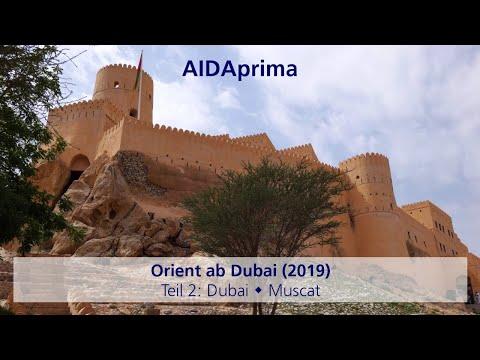 AIDAprima – Orient ab Dubai (2019): Teil 2
