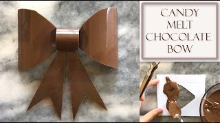 How to Make a Chocolate Bow Using Candy Melts | Shaped Style