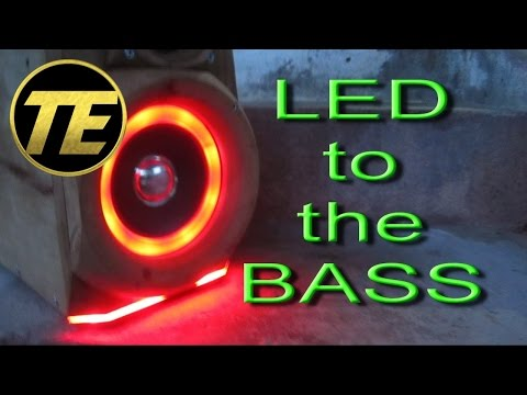 D.I.Y - How to install LED strips to the bass