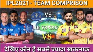 IPL2021 : RAJASTHAN ROYALS VS CHENNAI SUPER KINGS  TEAM' COMPARISON 2021 | RR VS CSK PLAYING 11