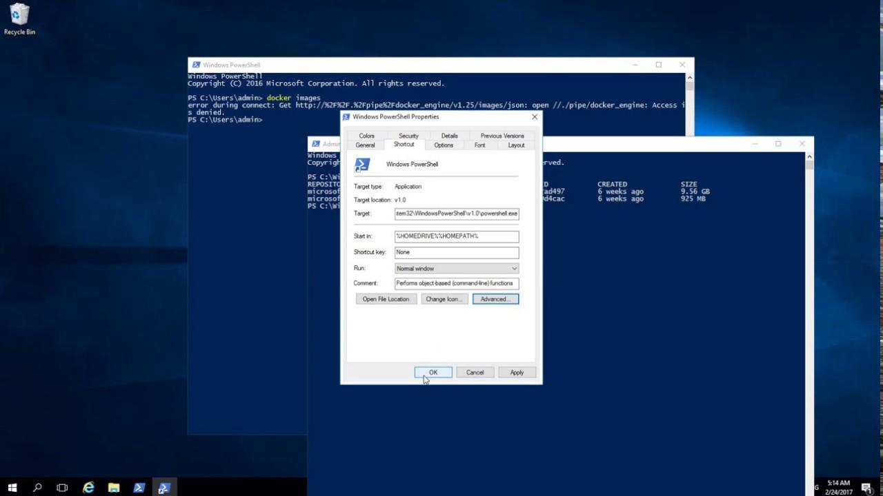 Docker Error - Error during connect docker engine Access is denied