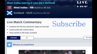 West Indies Vs Scotland  ( ICC Cricket World Cup Qualifier 2018 ) Live Video
