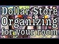 Dollar Store Room Organizing! + Decorating Ideas
