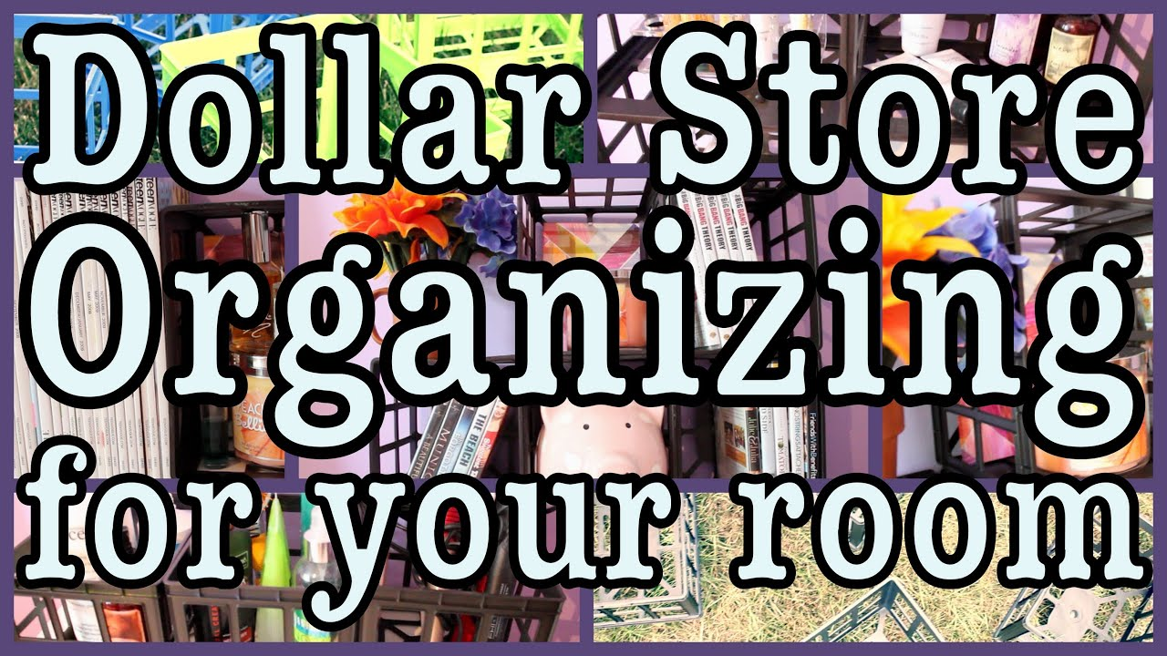Bedroom Organization Tips dollar store room organizing! + decorating ideas - youtube