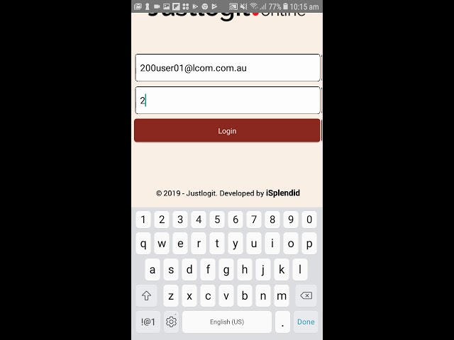 Justlogit.online - Mobile Application - Login to the Mobile app