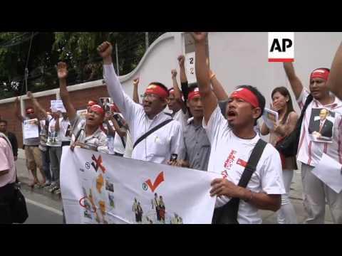 Protests against communal violence against Muslims in western Myanmar