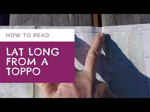 How to find Latitude Longitude from Topographic Map