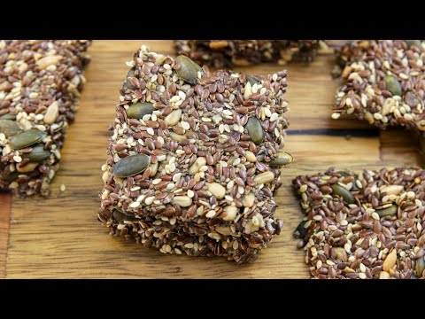 Healthy Seed Crackers Recipe Gluten free Low Carb and Vegan