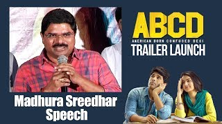 Producer Madhura Sreedhar Speech | #ABCD Trailer Launch | Allu Sirish | Rukshar Dhillon
