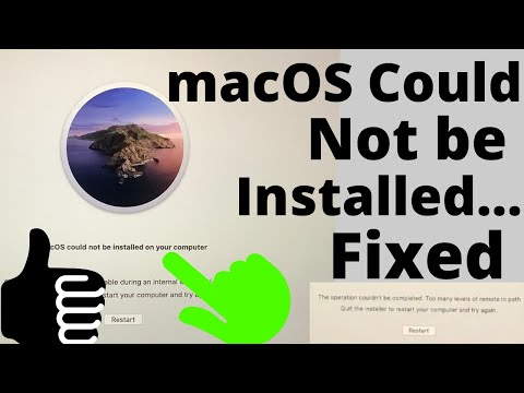 [100%] MacOS Could Not Be Installed On Your Computer Fixed On MacBook Pro Air/ IMac: Catalina