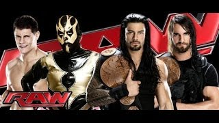 Cody Rhodes and Goldust vs The Shield Tag Team Championship - WWE RAW 10/14/13