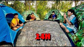 Anh Ba Phải | Thử Thách 24H Ở Trong Lều - Người Cuối Cùng Rời Lều Thắng 1 Triệu | 24 Hour Challenge