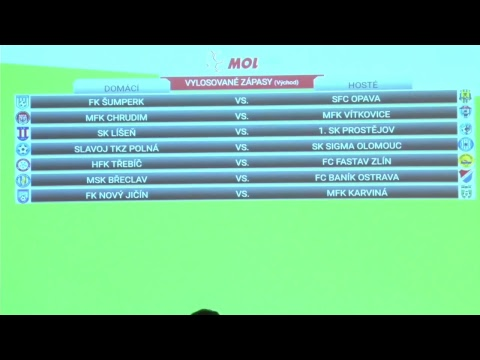 Losování 2. kola MOL Cup
