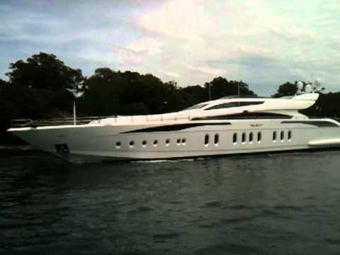 James Packer's luxury motor yacht in Sydney Harbour, named 'Z'