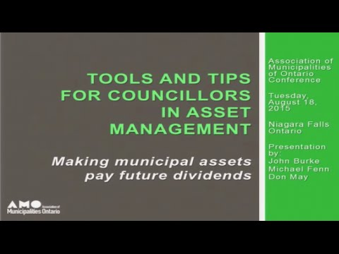Tools & Tips for Councillors in Asset Management