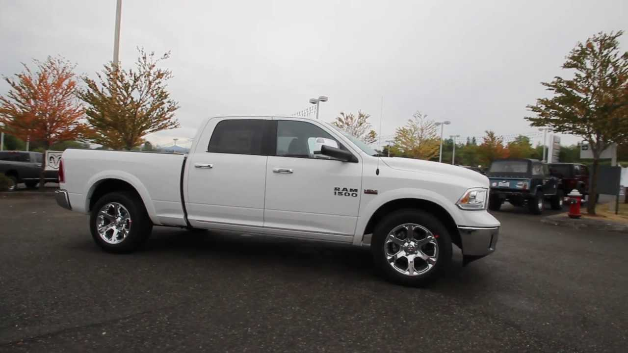 ds715484 2013 dodge ram 1500 laramie crew cab dcjofmonroe white youtube. Black Bedroom Furniture Sets. Home Design Ideas