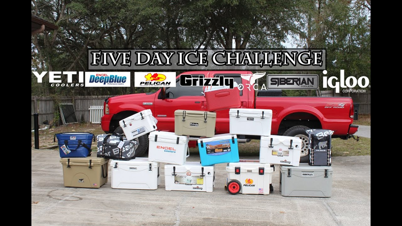 Five Day Ice Challenge Coolers Yeti Grizzly Pelican Engel