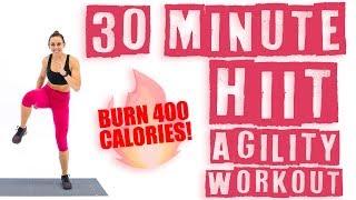 30 Minute HIIT Agility Workout 🔥Burn 400 Calories! 🔥