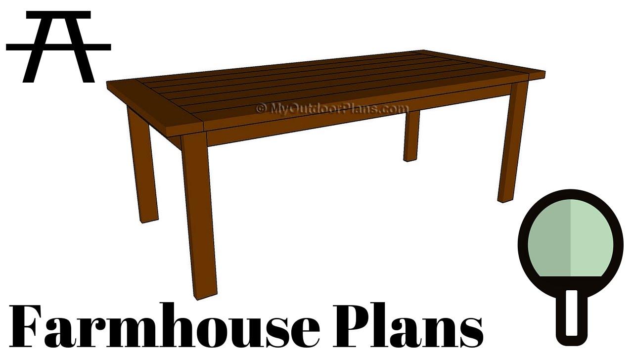 farmhouse table plans - youtube