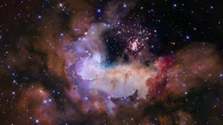 HUBBLE SPACE TELESCOPE | 4K Video Celestial Fireworks  Star Cluster Westerlund 2 Ultra HD